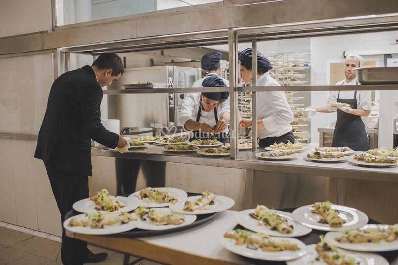 Cocina de la boda