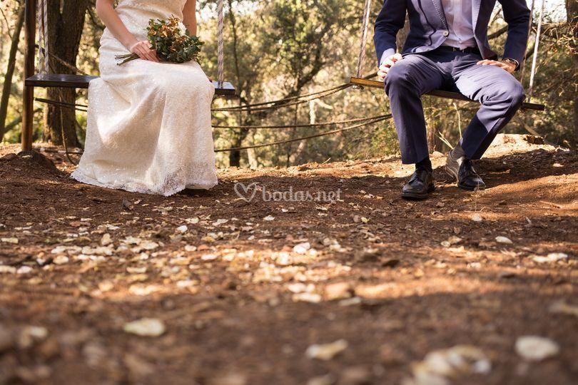 Altar boda bosque