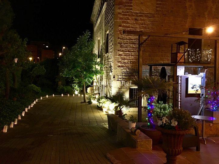 La masia de noche