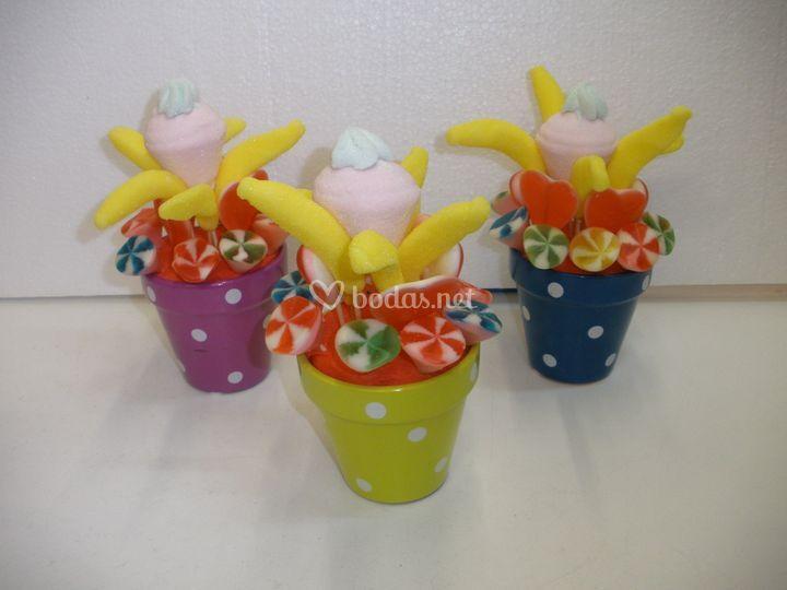 Macetas cerámica  pequeña (topos o lisa)