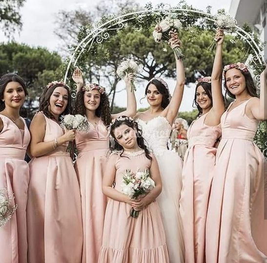 La novia y sus damas de honor