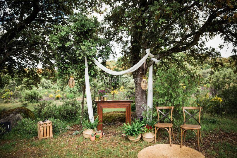 Ceremonia, altar