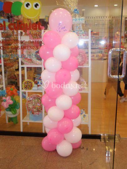 Columna de globos bicolor