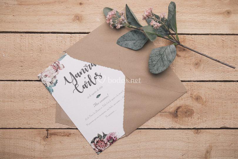 Invitación romántica