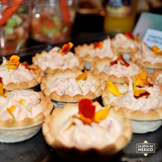 Canastitas de mousse de atún
