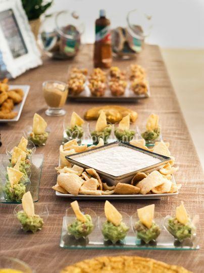 Mesa de salados
