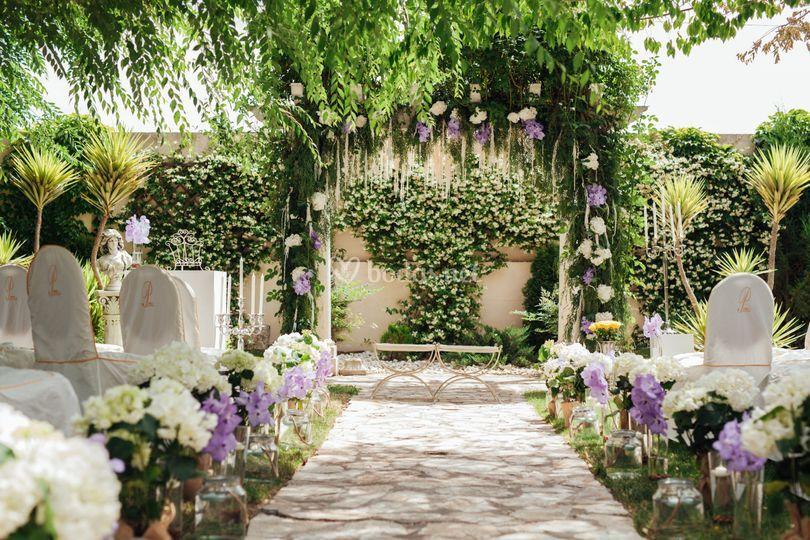 decoracion boda civil de el jardín romántico | foto 72