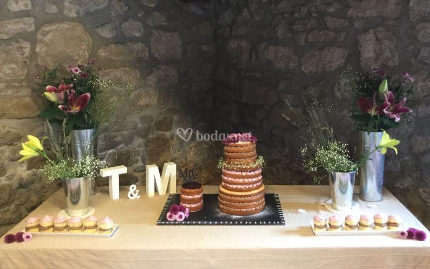 Mesa de la tarta bodas