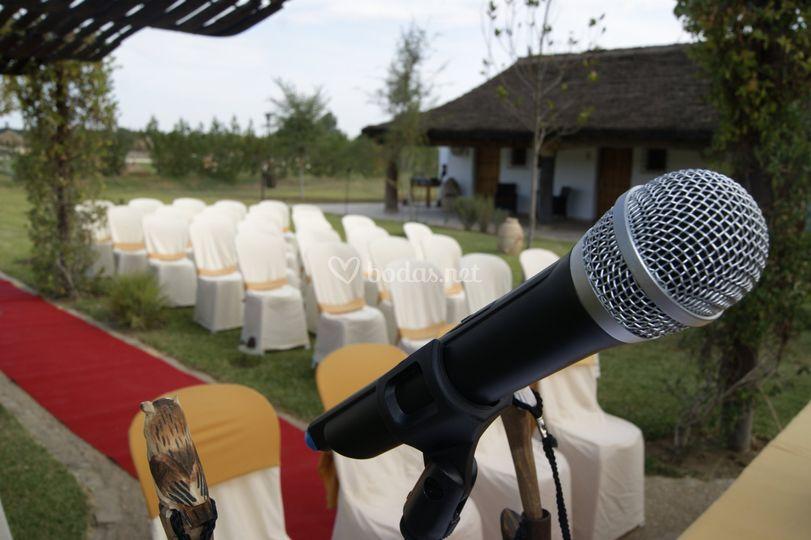 Sonorización ceremonia civil