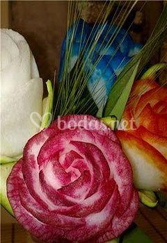 Rosas de nabo daikon