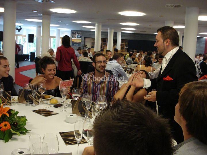 En Huesca durante el banquete