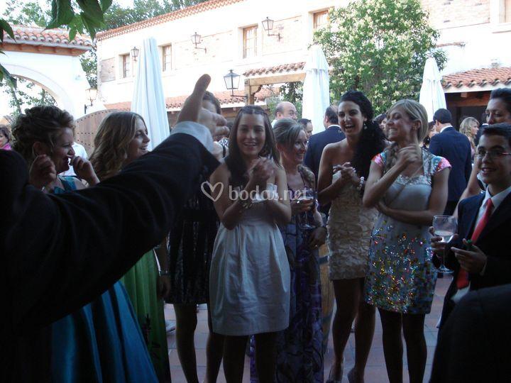 En Albacete durante el cóctel