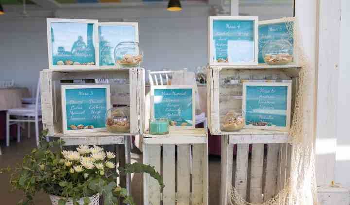 Seating plan para boda en la playa