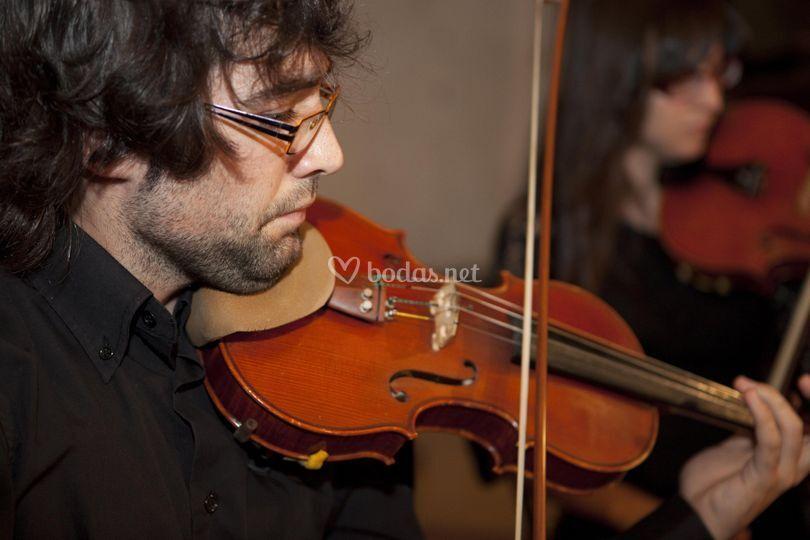 Carlos, violín / Teresa, viola