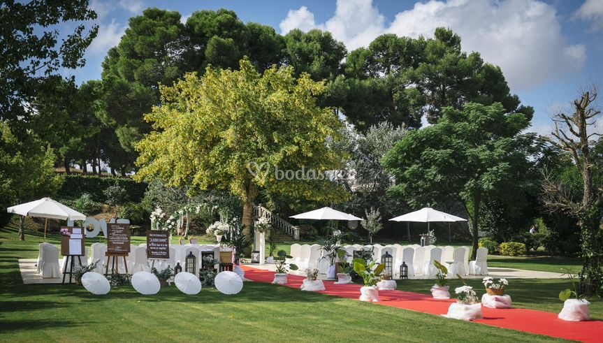 Jardín para ceremonia civil