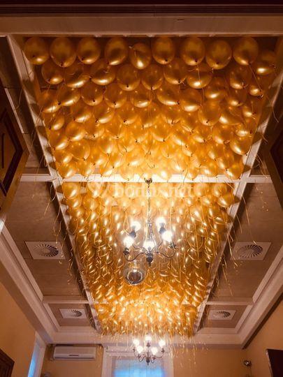 Techo de globos en San Joseren