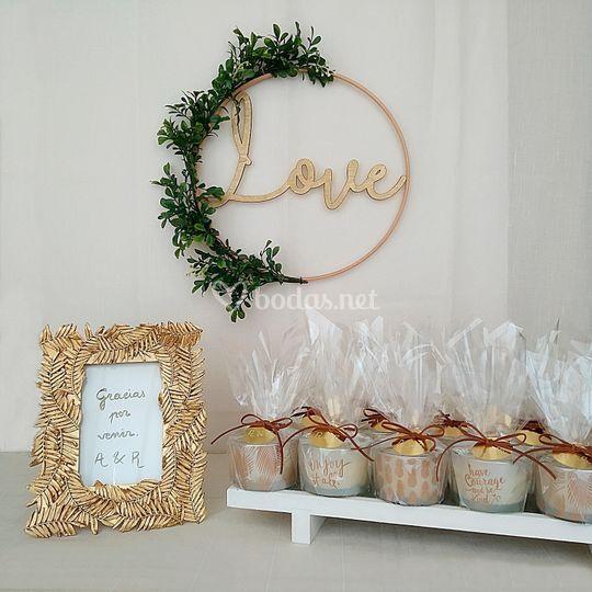 Rincón de regalos para los invitadas