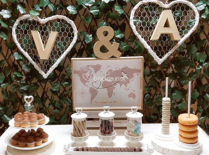 Candy bar de corazones
