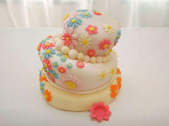 Turvy cake primaveral de bodas