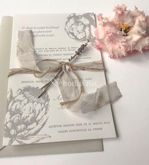 Invitaciones florales