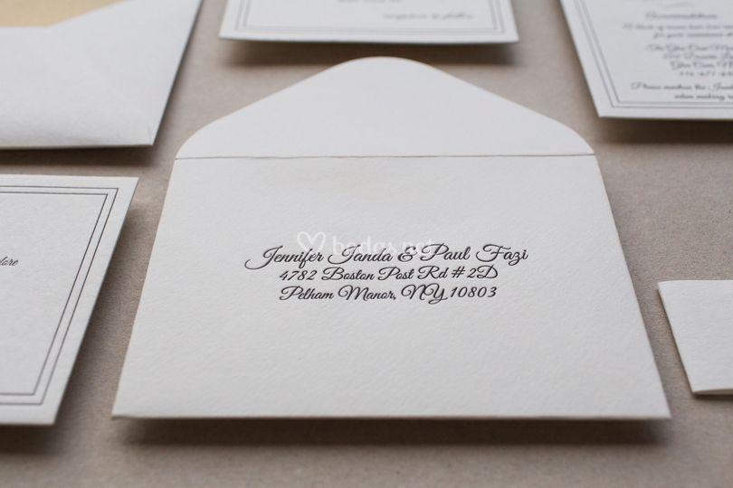 Letterpress para sobres