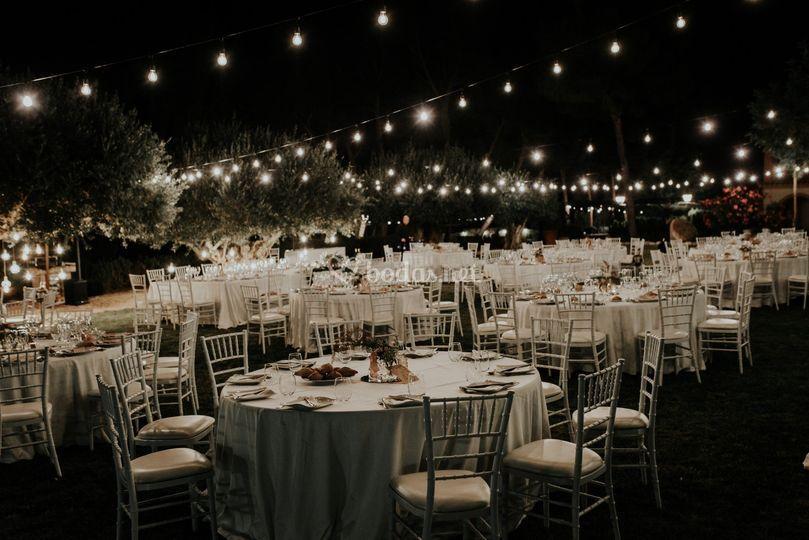 Iluminación decoración bodas