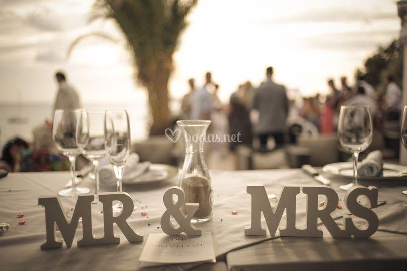 Decoración boda en Ibiza
