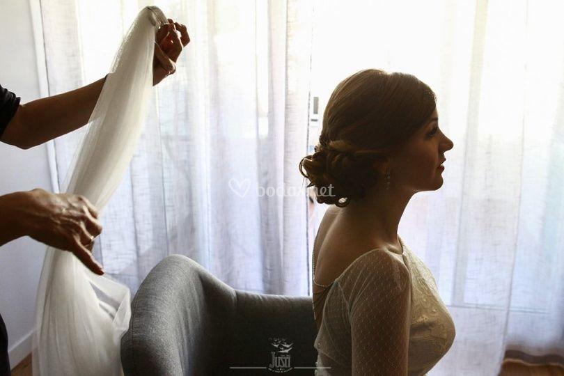 Preparativos velo de la novia