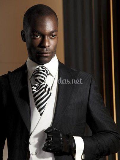 Traje Negro Lord Ton Novio Traje Negro Lord Ton Novio 143b81ba11f