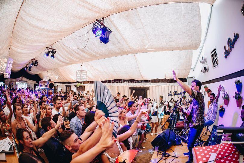 Público en la Feria de Málaga