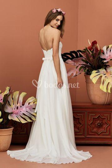 Espalda del vestido de novia Gertrude
