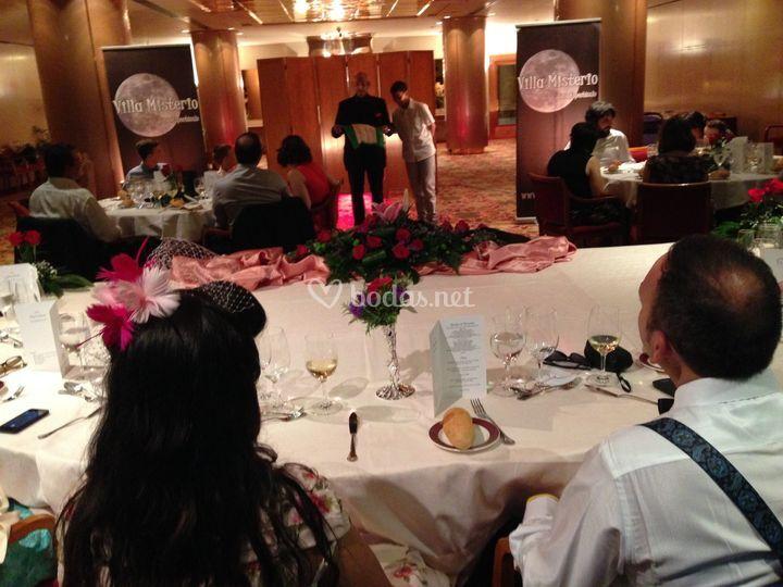 Banquete boda con show