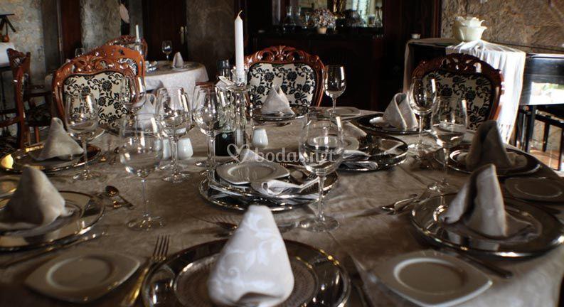 Detalle de montaje de mesa