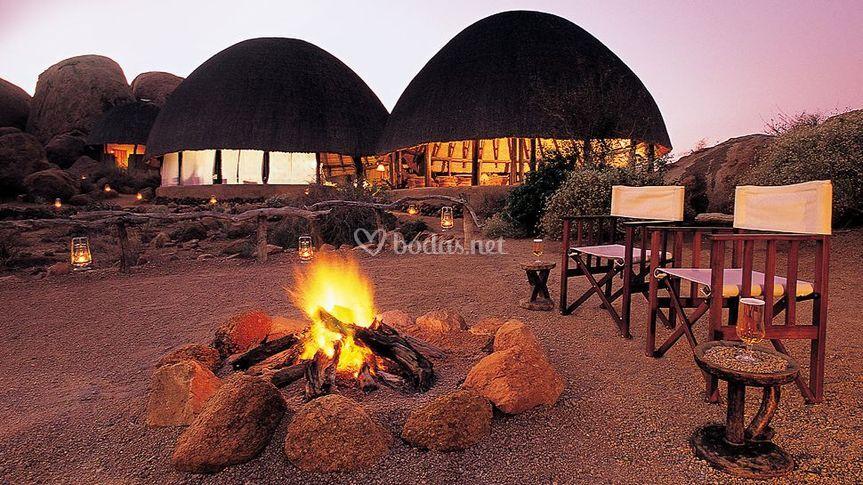 Campamento de lujo en África