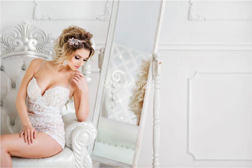 Lencería de novia con glamour
