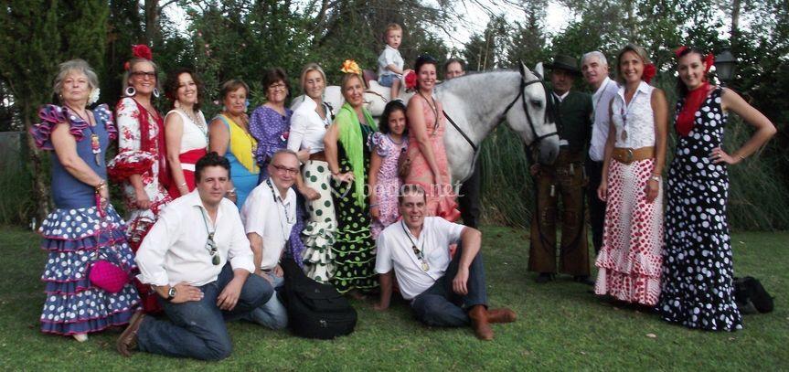 Con Angel Cobos y su caballo