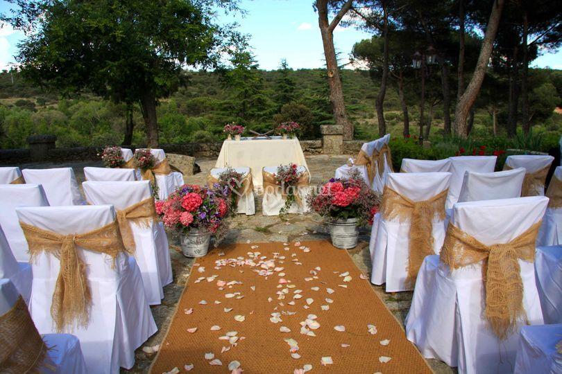 Ceremonia finca rústica