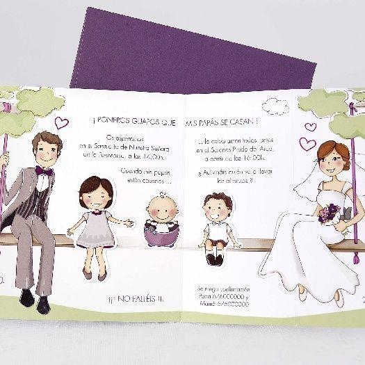 Invitaciones boda con hijos
