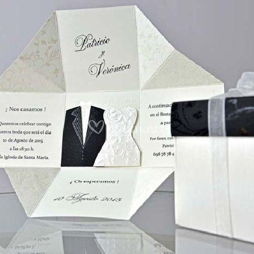 Invitaciones boda caja