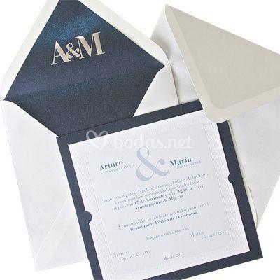 Invitaciones boda clásicas