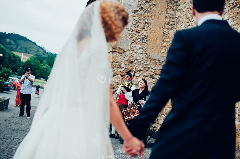 Gaiteros boda   Asturias