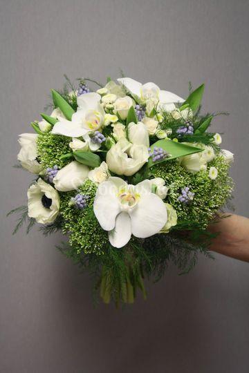 Bouquet tonos blancos