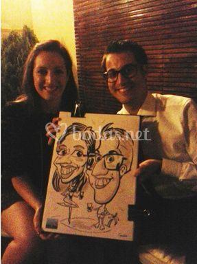 Caricatour caricaturistas boda