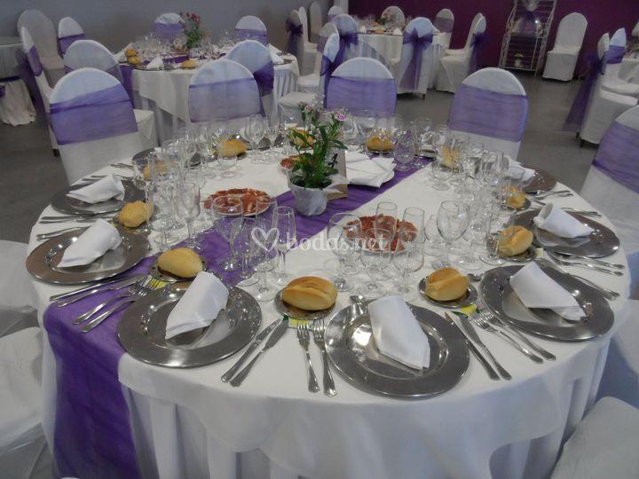 Montaje mesa salón Ducal
