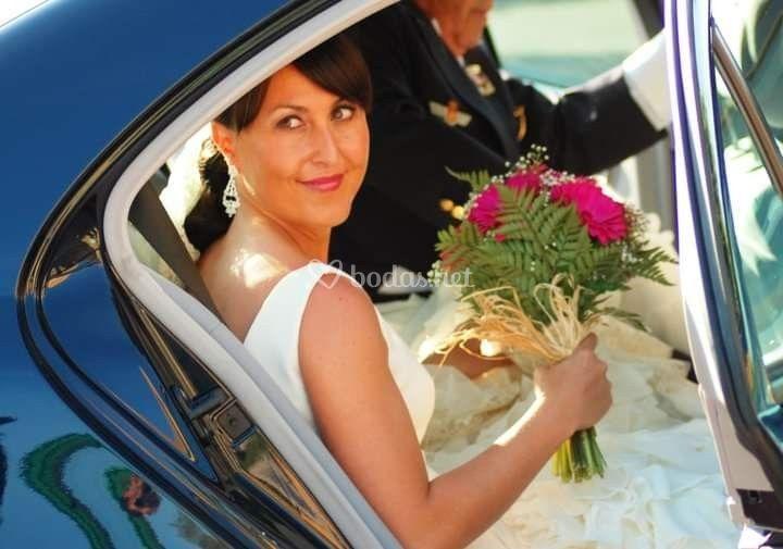 Bouquet de gerberas fucsias