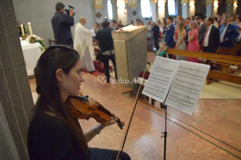 Actuación en la ceremonia