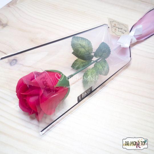 Rosas de jabón en bolsa