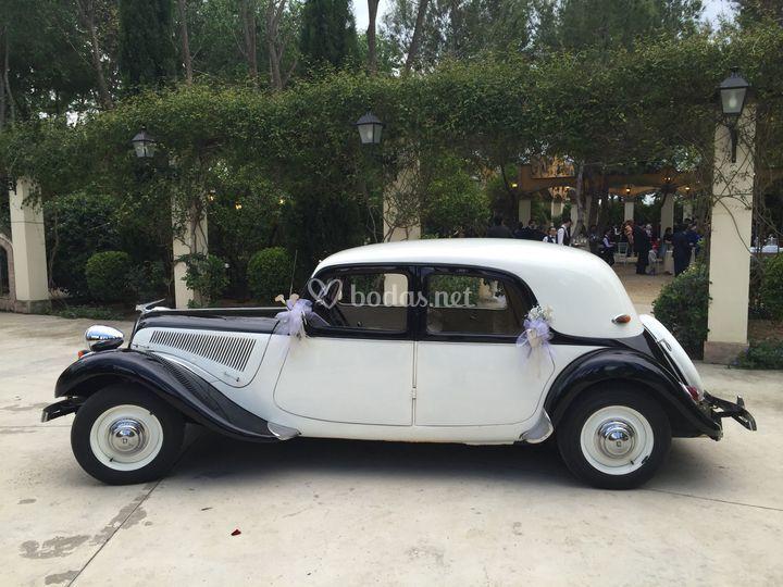 Citroen 11 1950 blanco-Negro