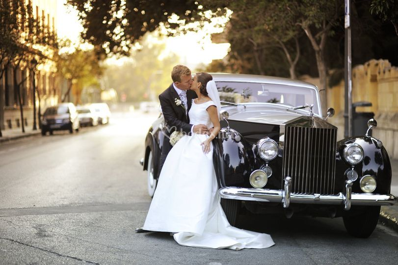 Rolls Royce negro y plata