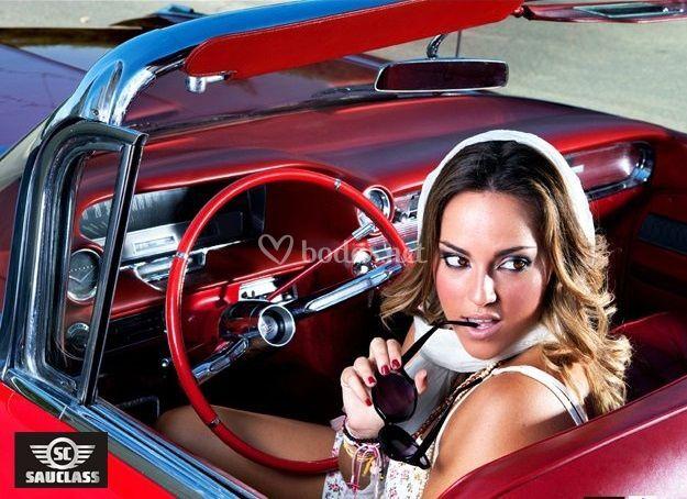 Cadillac rojo año 60